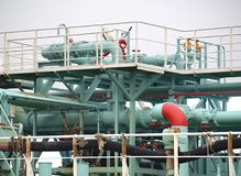 Industrial Oil Terminal Royalty Free Stock Images