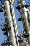 Industrial oil towers Royalty Free Stock Photo