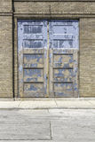 Industrial old garage door close up Royalty Free Stock Image