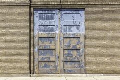 Industrial old garage door close up Royalty Free Stock Photo