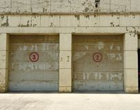 Industrial old garage gate Royalty Free Stock Photo