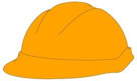 Industrial orange hard hat. Vector illustration Royalty Free Stock Photography