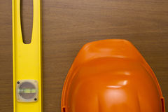 Industrial orange helmet Royalty Free Stock Photos