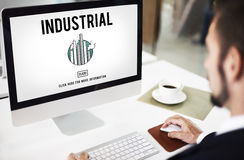 Industrial Organization Factory Structure Development Constructi Stock Photography