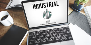 Industrial Organization Factory Structure Development Constructi Stock Image