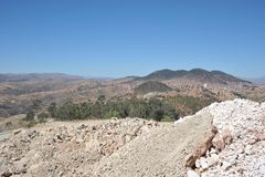 The industrial outskirts of Sucre Royalty Free Stock Photography