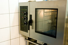 Industrial oven. Commercial kitchen interior with an industrial oven Stock Photography