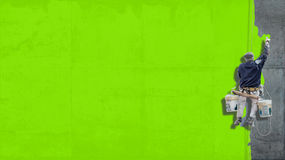 Industrial paint bright green background Stock Photos