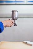 Industrial paint spray gun Royalty Free Stock Photography