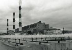 Industrial palace buildings Royalty Free Stock Images