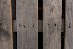 Industrial pallet. Bird`s angle view - Industrial pallet made out of wood Stock Images