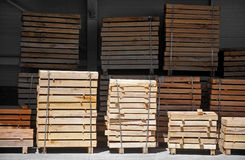 Industrial pallets Royalty Free Stock Images