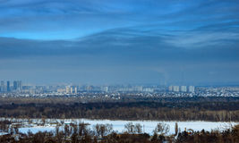 Industrial panorama city, day, outdoor Royalty Free Stock Images