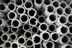 Industrial paper tubes. Stock Image
