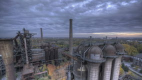 Industrial Park HDR dark stock video