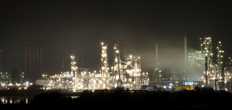 Industrial park night view Royalty Free Stock Photos