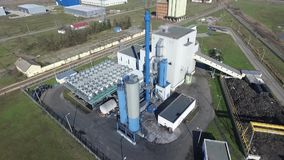 Industrial park thermal power plant. Industrial park with thermal power plant by drone stock footage