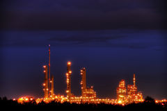 Industrial Park in Twilight Royalty Free Stock Photo