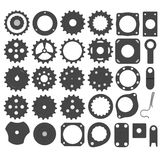 Industrial parts - 31 pieces Royalty Free Stock Photos