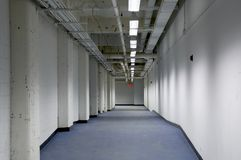 Industrial passage. In the storage facility royalty free stock photos