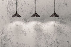 Industrial pendant lamps Royalty Free Stock Photos
