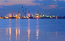 Industrial Petrochemical plant Royalty Free Stock Photos
