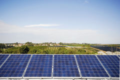 Industrial photo voltaic Royalty Free Stock Image