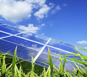 Industrial photovoltaic installation Royalty Free Stock Images