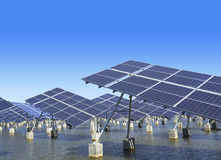 Industrial photovoltaic installation Stock Image