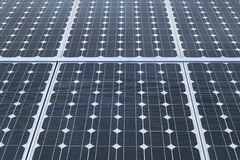 Industrial photovoltaic solar panels Royalty Free Stock Photos