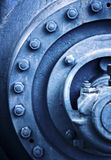 Industrial piece in blue Royalty Free Stock Photos