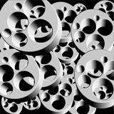 Industrial pieces background Stock Image
