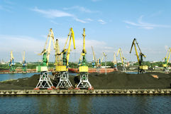 Industrial pier. Royalty Free Stock Photography