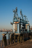 Industrial pier Royalty Free Stock Image