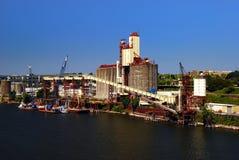 Industrial Pier in Portland Oregon Stock Image