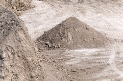Industrial pile of gravel Stock Photo