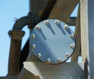 Industrial pipe cap flange Stock Photo