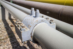Industrial pipe clamp Royalty Free Stock Photo