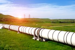 Industrial pipe with gas and oil. Industrial pipe with gas and  oil stock photography