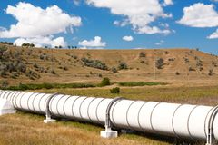 Industrial pipe with gas and oil. Industrial pipe with gas and  oil royalty free stock image