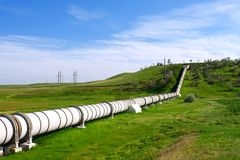 Industrial pipe with gas and oil. Industrial pipe with gas and  oil royalty free stock photos