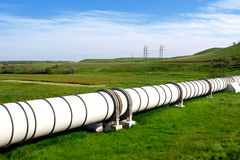 Industrial pipe with gas and oil Stock Image