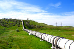 Industrial pipe with gas and oil Royalty Free Stock Images