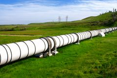 Industrial pipe with gas and oil. Industrial pipe with  gas and oil stock photo