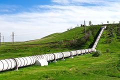 Industrial pipe with gas and oil. Industrial pipe with gas and  oil stock image