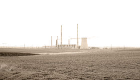 Industrial pipe polluting atmosphere Royalty Free Stock Images