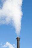 Industrial pipe polluting white steam Royalty Free Stock Photo