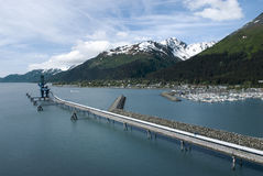 Industrial pipe in Seward, Alaska Royalty Free Stock Photos