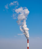 Industrial pipe with smoke. Stock Image
