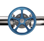 Industrial Pipe Valve Stock Image